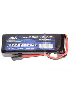 Arrowmax Competition LiPo Micro RX-Pack Straight # 2400mAh 7.4V