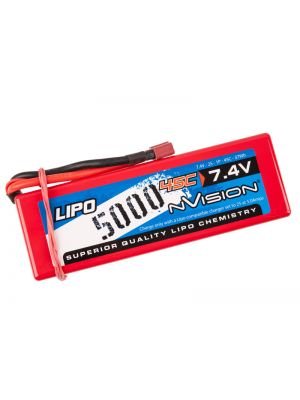 NVision Sport LiPo 2S-5000mAh-45C/Deans