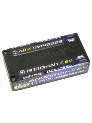 Arrowmax Competition HV-LiPo Hardcase 2S 110/55C Shorty # 6000mAh 7.6V