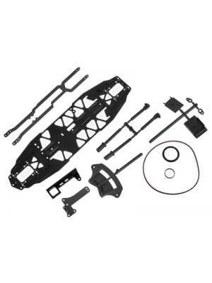 MA2002-DTC Mugen MTC-1 FWD 1:10 Conversion Kit DTC Aluminium Chassis für A2001 RC Modellauto