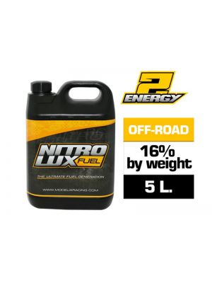 NF01125 Modelix Racing NITROLUX ENERGY2 OFF ROAD 16% Produktansicht vom Nitrolux ENERGY2 Off-Road RC Modellbautreibstoff 16% (5L.)