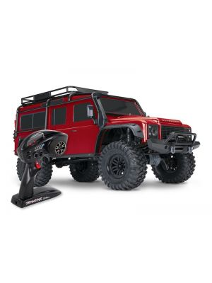 TRX82056-4-RED Traxxas TRX-4 Scale & Trail Crawler Land Rover Defender Red RTR Produktansicht Traxxas TRX-4 LR Defender 4x4 rot RTR Crawler Brushed ohne Akku/Lader