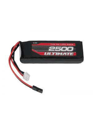 UR4451 Produktansicht vom Ultimate Competition LiPo Micro RX-Pack Straight mit 2500mAh und 7.4V plus FUT-JR Stecker