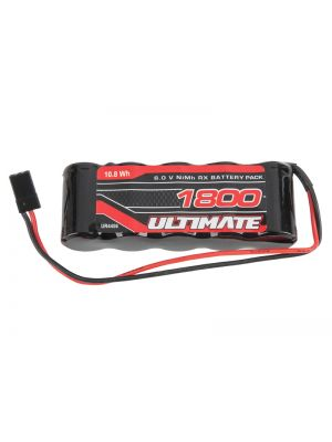 UR4455 Ultimate Competition NiMh RX-Pack Straight # 1800mAh 6.0V JR Stecker