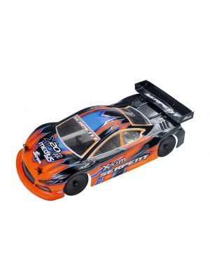Serpent Model Racing Cars X20 Medius Mini 400020 Produktansicht vom Serpent Medius X20 Mini Touring EP 1:10 M-Chassis mit Kohlefaser RC Modellauto