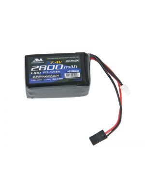 Arrowmax Competition LiPo Micro RX-Pack Hump # 2800mAh 7.4V